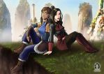 Korra and Asami (Avatar: The Legend of Korra ) by TanyaBengalTiger