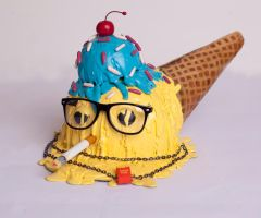 Hipster Cone Cap by MarcosMachina