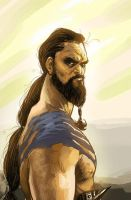 Khal Drogo- Jason Mamoa by ARTofANT