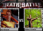 Death Battle: Ben Richards vs. Katniss Everdeen by kart42