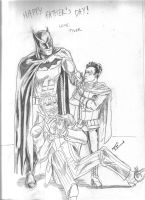 Batman and Robin Fathers Day by TEhopefulcomicartist