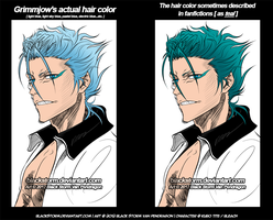 GRIMMJOW's hair is NOT teal! DX by blackstorm