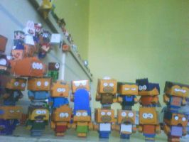 all simpsons cubeecraft by Tamayazo