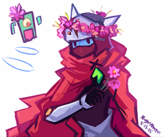 Drifter with flowers by NightMargin