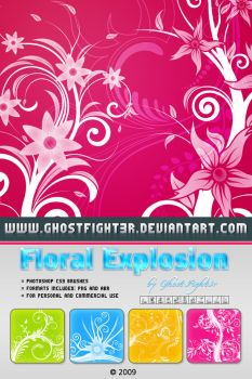 Floral explosion Photoshop BRUSHES by Andrei-Oprinca