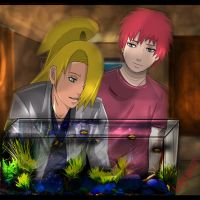 Sasori and Deidara: Aquarium by Lesya7