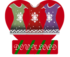 [MMD] CHRISTMAS DRESS [+DL] by Sims3Ripper
