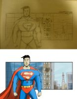 Superman tribute by r4nd0mpunk