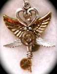 Four Wing Steampunk Pendant by Lucky978