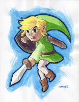 Toon Link Sketch by Timbo1834