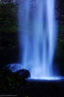 Latourell Falls Black Light by worldtravel04