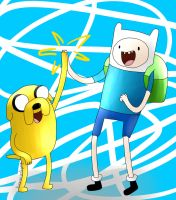 Finn and Jake by KuroVonWolfgang