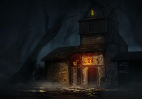 lost road inn by Asahisuperdry