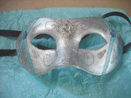 Ice princess venetian mask by Rouages-et-Creations
