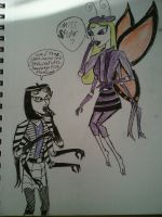 Arachne meets Butterfly by Invaderskull1995