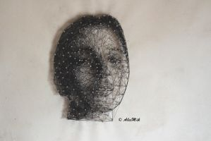 Art with Nails and Thread-Kunst mit Nagel/Faden by AlexMiK