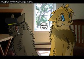 Look Out The Window.  No YOU Look by Skythewolfdog9