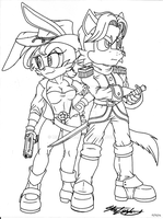 Bunnie and Twan - WIP by MolochTDL