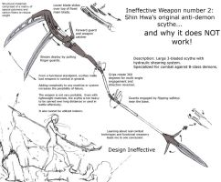 Ineffective weapons 2 - Shin Hwa's original Scythe by shinsengumi77