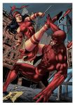 Elektra vs Daredevil by wgpencil