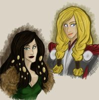MARVEL: FemThor and Lady Loki by Shuggie