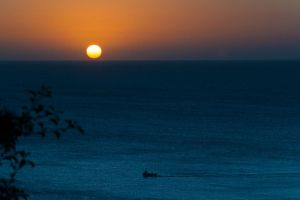 Sunrise over the sea by BikeBoyPunk