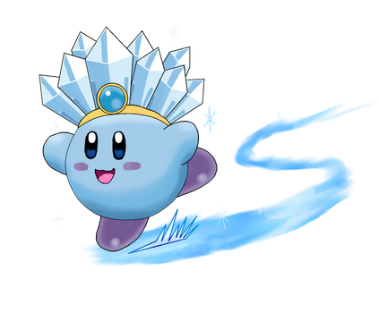 Ice Kirby for Collab by YoshiGamerGirl