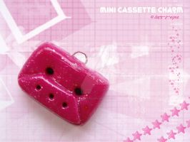 Fimo Cassette Tape Charm by dark-x-eyes