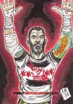 Cm Punk Sketch Card Psc Aceo Atc Chris Foreman by chris-foreman