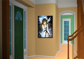 CGI Room with Poster by Enker