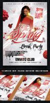 The Spring Break Party Flyer - PSD Template by KoolGfx