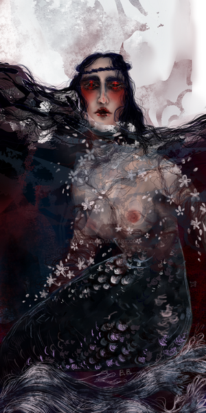 Red Eyed Mermaid by Bonnino
