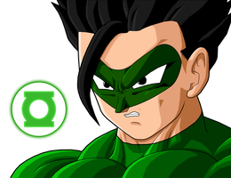 Green Lantern Gohan by mcgrass