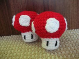 Mario Mushrooms by CataCata23
