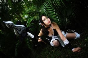French Maid Nidalee by Canvasyne