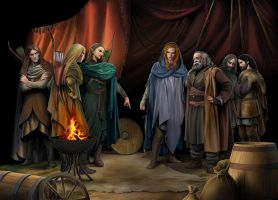 Finrod, Beor and the Green-elves of Ossiriand by steamey