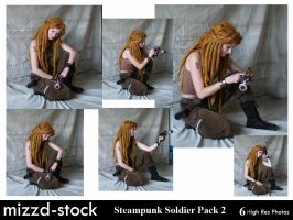 Steampunk Soldier Pack 2 by mizzd-stock