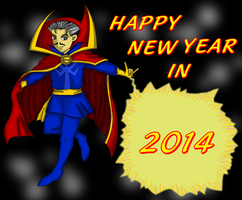 Happy New Year 2014( Dr. Strange) by Shuinvy