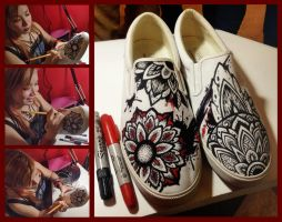 Bucketfeet shoes Live art by camsy