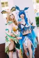 Glaceon and Leafeon: Our powers are real by KyraKitsune