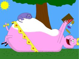 Eek and Annabelle on a picnic by baseballstinks