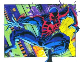 Rick Leonardi's Spider-Man 2099 by JohnVichlenski