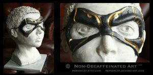 Gold Swirl Hero Mask by nondecaf