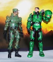 Master Chief and Sgt. Johnson by MarkieMarky