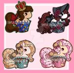 Cupcake Ponies: Royal, Stained Glass, Biscuits by YamPuff