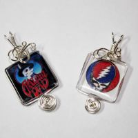 Grateful Dead Head Pendants by Create-A-Pendant