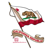 Flag of the California Republic by SouthParkTaoist