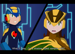 Recolor - Megaman vs Shadecat by Metallica-fan-girl