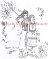 Zack_and_Aerith by PeitchKinomiya
