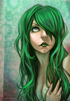 green hair by Ni-nig